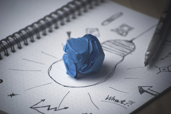 creating new ideas on a paper